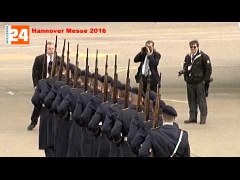 Hannover Messe 2016   Landung US Präsident Obama