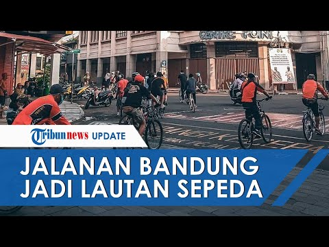 Viral Video dan Foto Warga Berbondong-bondong Olahraga di Jalanan, Bandung Jadi Lautan Sepeda