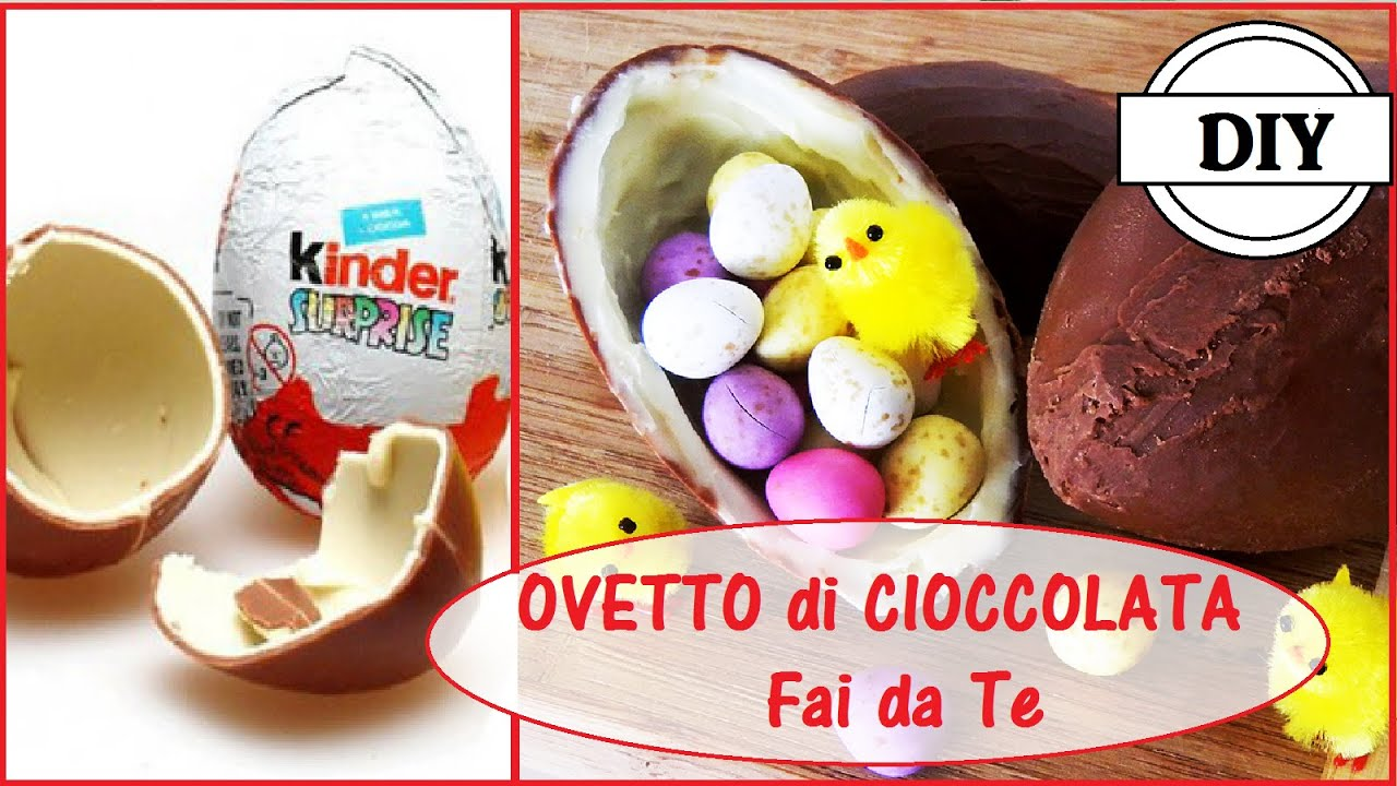 Famoso Ovetto Kinder Sorpresa Fai da Te - DIY Kinder Surprise Egg - YouTube LR07