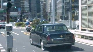 2012/03/21 天皇御料車と白バイとパトカーが首都高霞ヶ関出口から現れた!