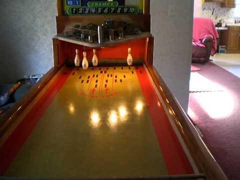 1950 shuffle alley bowling machine