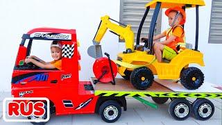 Влад и Никита играют и катаются на детских машинка Сборник видео для детей