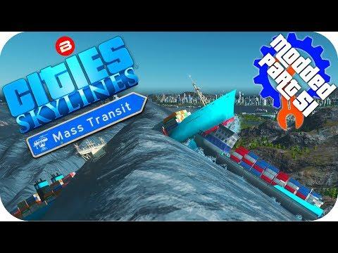 Cities Skylines Gameplay: TOTAL DESTRUCTION OF SIPATEA Cities: Skylines Mods MASS TRANSIT DLC #51