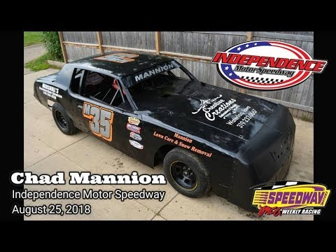 Chad Mannion M35 Independence Motor Speedway August 25, 2018 (In Car Cam) - dirt track racing video image