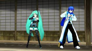 two faced lovers (Ura-omote lovers) - miku hatsune & kaito shion (mmd)