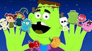 Ten Little Fingers | Finger Family | Scary Number Rhymes | monsters fingers family