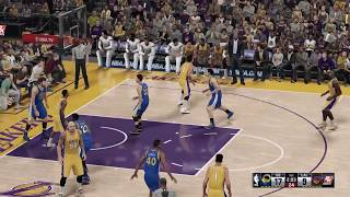 NBA 2K16 Golden state Warriers vs Los Angeles Lakers Xbox One gameplay