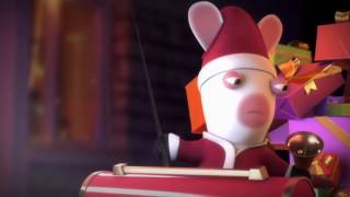 Смешной мультик. Бешеные кролики. Кролики и доставка подарков.