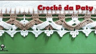 BICO DE CROCHÊ BICOLOR TRANSPASSADO