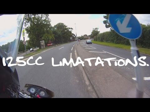 The limitations of a 125cc motorcycle.