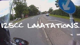 The limitations of a 125cc motorcycle. thumbnail