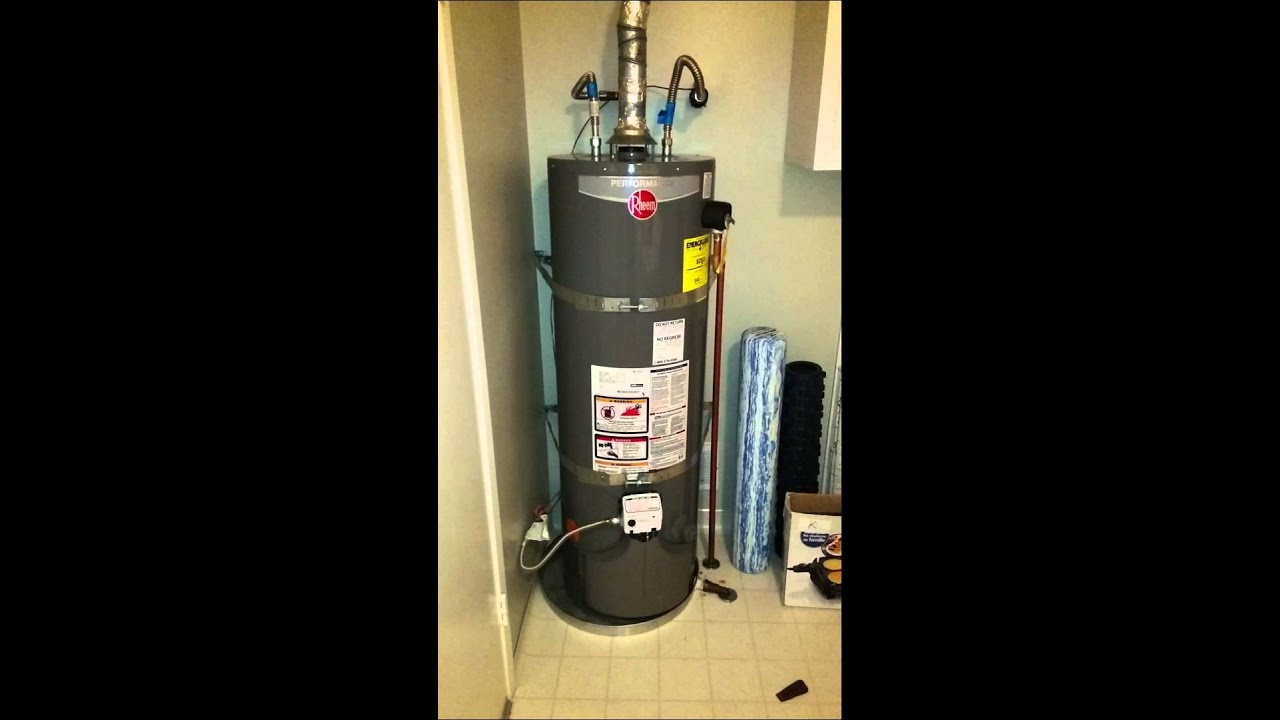 Rheem Gas Water Heater With Delayed Ignition Problem