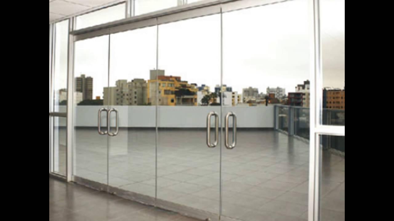 Puertas para duchas en vidrio templado lincdecor youtube - Puertas de vidrio para chimeneas ...