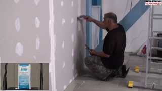Гипсовая шпаклевка Унифлотт для стыков ГКЛ (гипсокартонных листов) - шпаклевка гипсокартона видео(Строймаркет