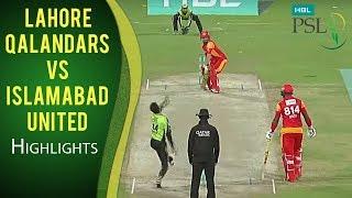 Lahore Qalandars vs Islamabad United  Super Over  Islamabad United Won  HBL PSL 2018