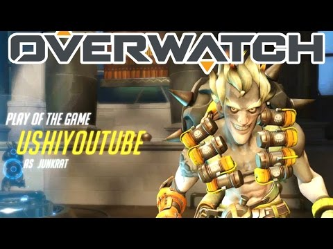 Overwatch Gameplay - When My Junkrat Got The Play Of The Game (Numbani - Attack)
