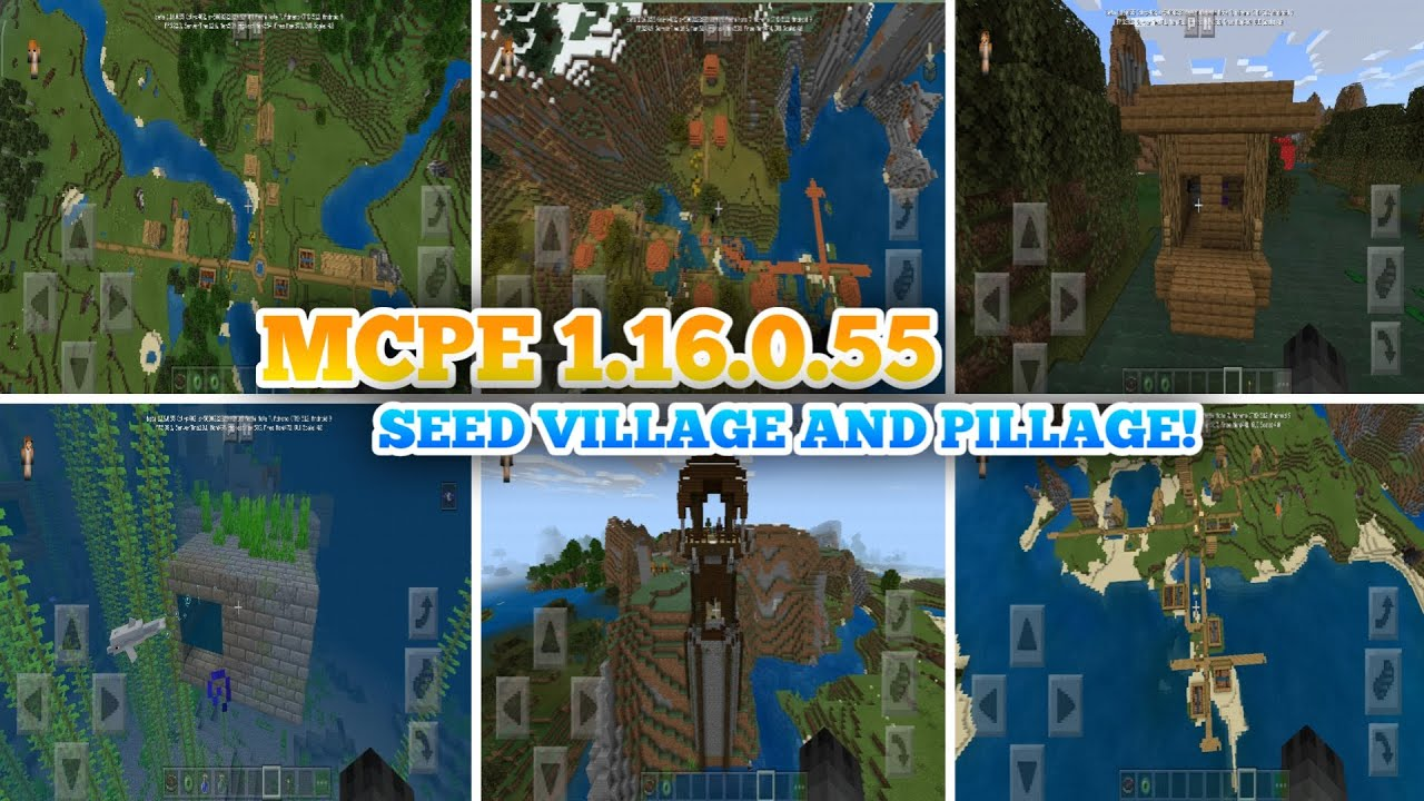 Minecraft Pe 1 16 0 55 Seed Village And Pillage Mcpe 1 16 Seed Village Minecraft Pe 2020 Youtube