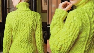 33 Cable and Rib Turtleneck, Vogue Knitting Holiday 2012