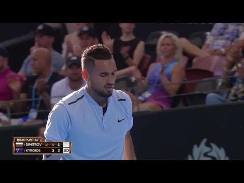 Dimitrov vs Kyrgios Match Highlights (SF) | Brisbane International 2018