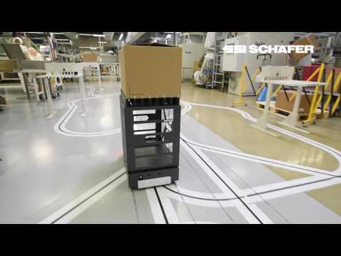 AGV-systeem Weasel, productielogistiek bij Bachmann Forming AG