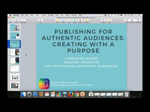 Publishing for Authentic Audiences: Creating with a Purpose