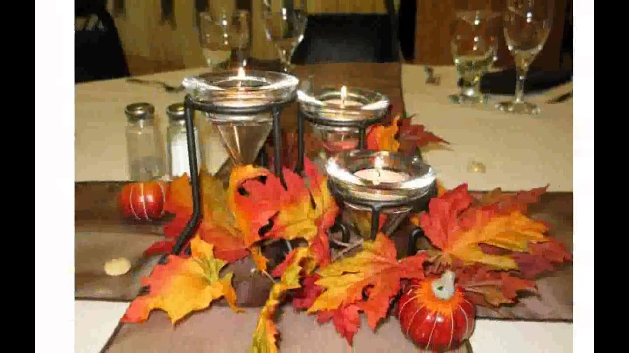 Fall table decorations ideas youtube for Decoration ideas