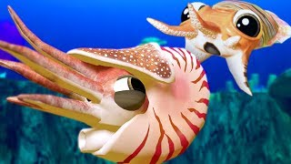 CUTTLEFISH vs NEW CHAMBERED NAUTILUS - Feed and Grow Fish - Part 58  Pungence