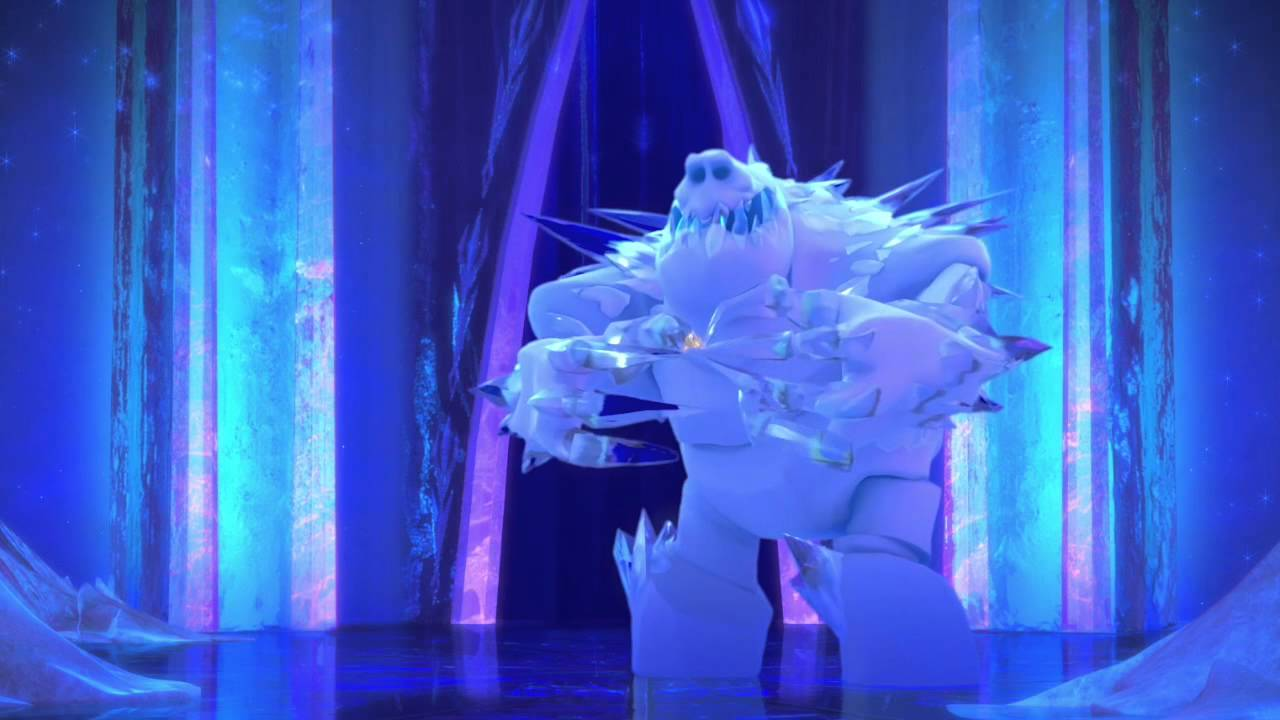 Frozen End Of Credits Scene Hd Marshmallow Snow Monster