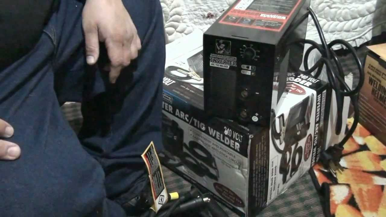 Harbor Freight Tig Welder Unboxing