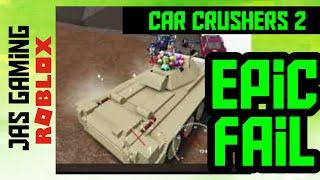 Roblox Car Crushers 2 Derby Arena Juggernaut Fail