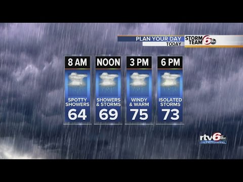 Severe storms move into C. Ind.
