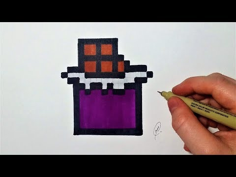 Dessin Tablette De Chocolat Pixel Art Facile Youtube
