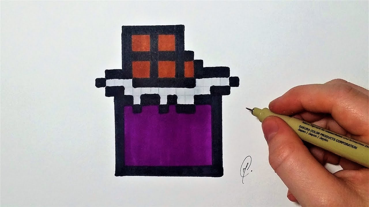 Dessin Tablette De Chocolat Pixel Art Facile