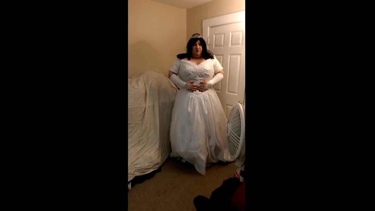 Crossdresser In A Wedding Gown