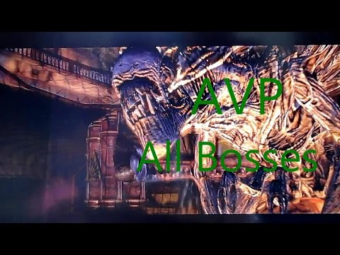 Aliens vs Predator All Bosses Xbox 360
