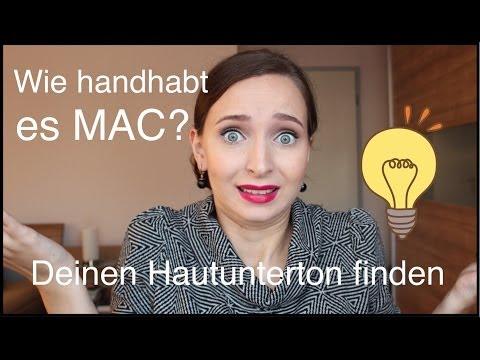 Deinen Hautunterton finden und wie handhabt es MAC?   askAnna