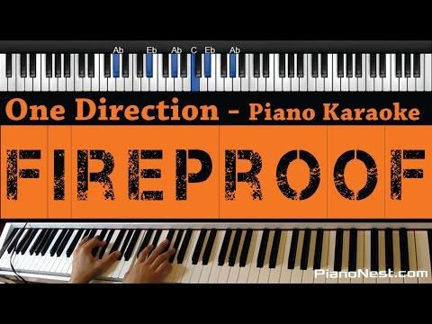 One Direction - Fireproof - Piano Karaoke / Sing Along