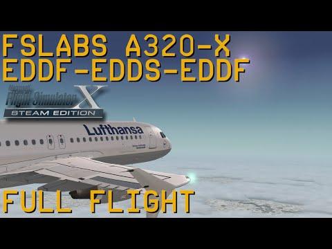 Full Flight | FSLabs A320X | Frankfurt/Main to Stuttgart and back | FSX SE