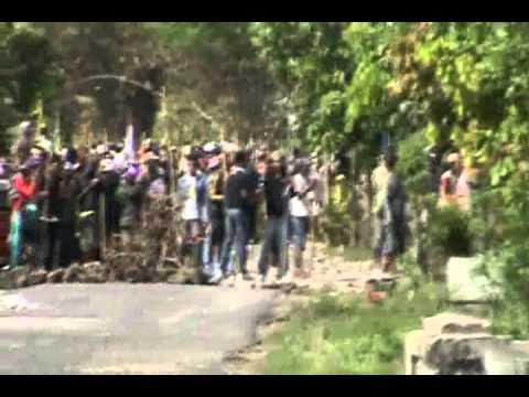 Bali vs Lampung -- Blokade Polisi 2
