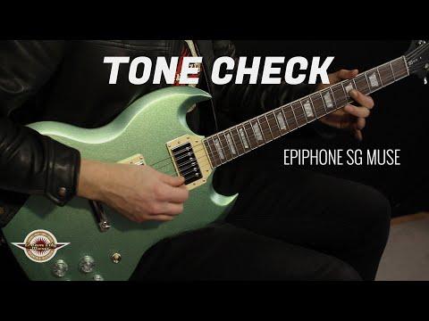 TONE CHECK: Epiphone SG Muse Guitar Demo   No Talking