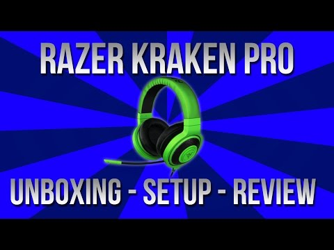 Razer Kraken Pro (Green) - Unboxing, Setup, And Review