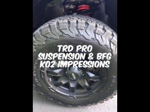 2017 Toyota Tundra Trd Pro >> Toyota Tundra TRD Pro Suspension & BFG KO2 Tire Impressions - YouTube