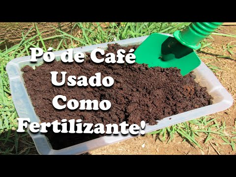 Como Utilizar Pó de Café Usado como Fertilizante/Adubo!