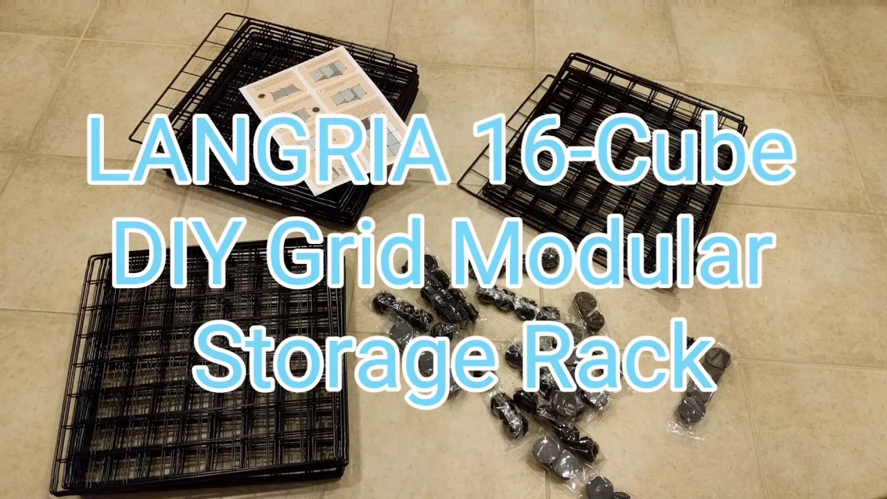 LANGRIA DIY 16-Cube Metal Wire Storage Cubes - YouTube