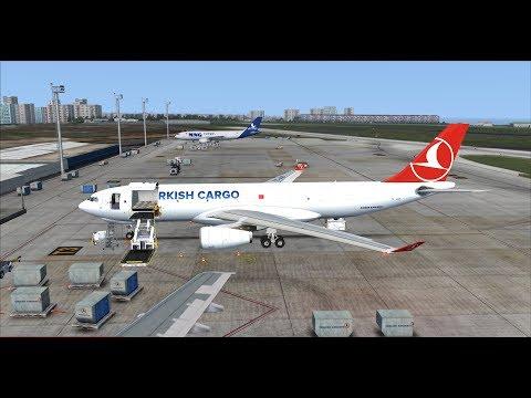 FSX   FSCloud   Helsinki to Istanbul evening flight   Turkish Cargo Airbus A330-200F [GER   ENG]