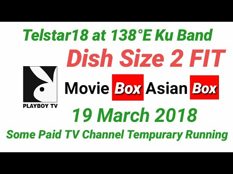 Telstar 18 at 138°E K Band Some Paid TV Channels Temporary Free Free Running March 2018