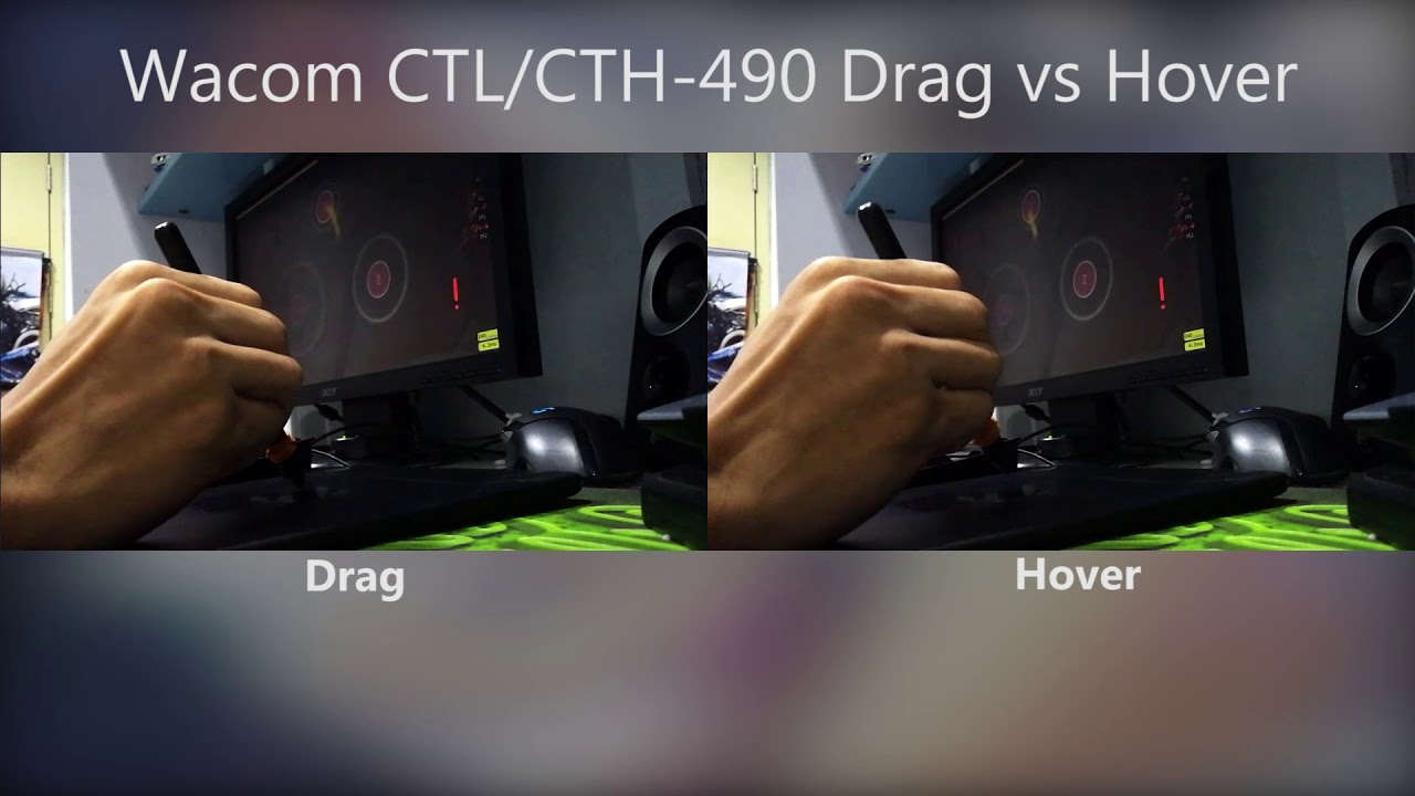 osu! - CTH/CTL-490 Drag vs Hover Latency Test