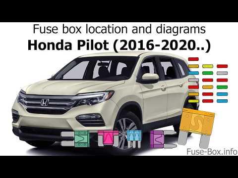 [DIAGRAM_5LK]  Fuse box location and diagrams: Honda Pilot (2016-2020..) - YouTube | 2015 Honda Pilot Fuse Box Location |  | YouTube