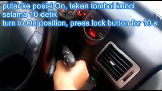 key remote windows programming peugeot 307 and others