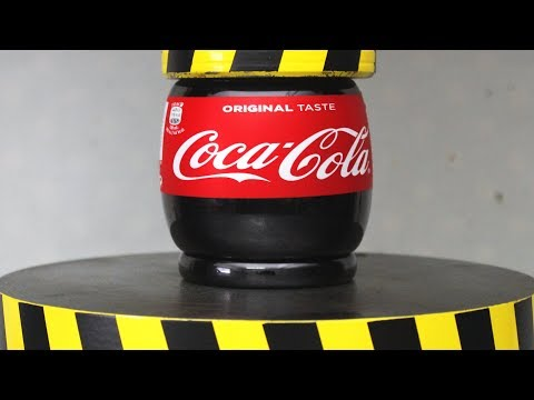 EXPERIMENT HYDRAULIC PRESS 100 TON vs COCA COLA